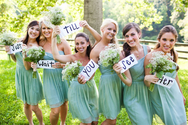 Unique Wedding Party Poses